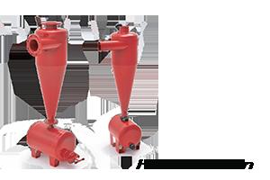 Hidrosiklon, damla sulama filtreleri yalnızca kaba partikülleri tutarlar. En çok 2 mm den büyük kum tanecikleri için kullanılırlar. Bu nedenle genellikle çıkışına bir disk filtre bağlanarak kullanılırlar.